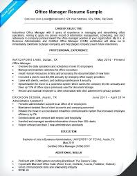 Construction Project Manager Resume Office Sample Companion Objective