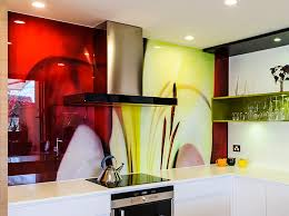 Printed Glass Splashback Melbourne NATURES SHAPE 4 VR Art