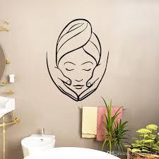großhandel spa salon wandaufkleber kreative mädchen wandbilder badezimmer dekorative wandtattoos vinyl moderndecal 4 62 auf