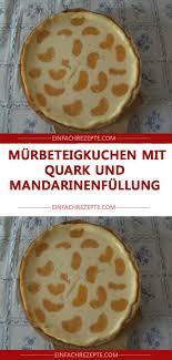 mürbeteigkuchen mit quark und mandarinenfüllung