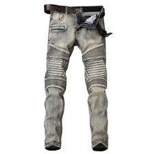 Vintage Biker Slim Ripped Jeans