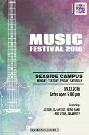 Customizable Design Templates For Music Event