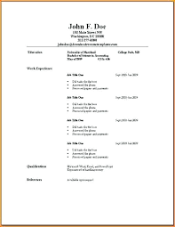 Beginners Resume Template Examples For Simple Acting