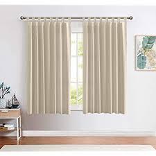 ckny gardinen schlaufenschal voile fenster vorhang mit schlaufen halb transparent schlafzimmer wohnzimmer 2 stück 175 x 140 cm h x b taupe