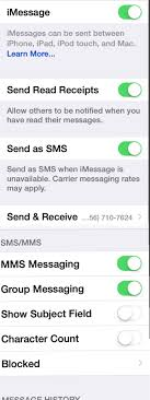 Why am I not receiving group texts from iPhone users iPhone