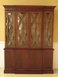 Henredon Breakfront China Cabinet by C1049 Vintage French Romweber Breakfront China Cabinet Bookcase