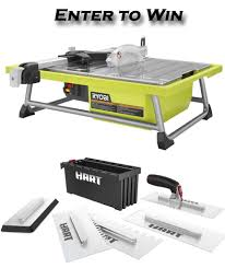 Ryobi Wet Tile Saw Cordless by Travertine Tile On A Budget Her Tool Belt