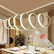 led esstisch esszimmer le dimmbar pendelleuchte modern frühling design hängele chic acryl metall fernbedienung decke leuchten für wohnzimmer