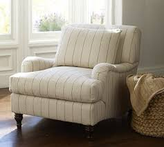 Carlisle Upholstered Armchair potterybarn Striped chair in