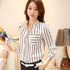 Stylish 2017 Fashion Women Work Wear Long Sleeve Shirt BB90226 Size S M L Fresh Formal Blouse Career