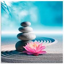 artland wandbild sand lilie und spa steine in zen garten zen 1 stück in vielen größen produktarten alubild outdoorbild für den