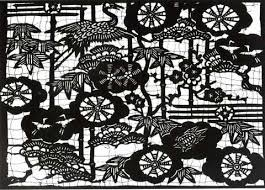 Japan Uses The Art Of Papercutting Not As Festive Decoration But A Method Used In Dying Fabric These Papercuts Are Often Extremely Elaborate And