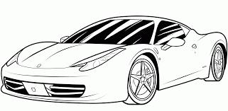 Cool Race Car Coloring Pages Ferrari