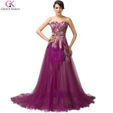 online get cheap purple evening gown aliexpress com alibaba group