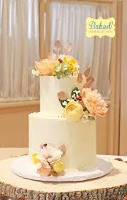 Rustic Flower Wedding Cake