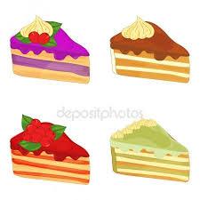 Set of tasty cakes Sweet dessert design Piece of cake with berries Piece