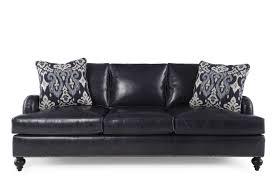 bernhardt beckford leather sofa mathis brothers furniture