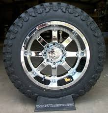 20x12 Chrome Gear Alloy Big Block Wheels W/ 35/12.50R20 Atturo Trail ...