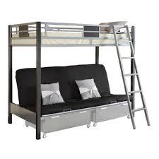venetian worldwide cletis iii twin over futon bunk bed silver