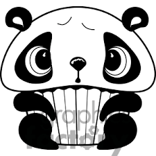 300x300 clipart black and white cupcake