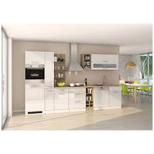 komplett küche 340 cm weiß maranello 03 inkl e geräte weiß hochglanz b x h x t ca 340 x 200 x 60cm