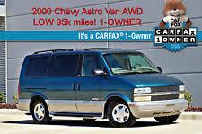 2000 Chevrolet Astro Van AWD 1 OWNER LOW 95K Miles NO RESERVE