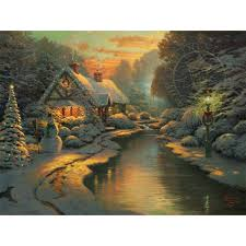 Thomas Kinkade Christmas Tree Train by Victorian Christmas Carol A U2013 Limited Edition Art The Thomas