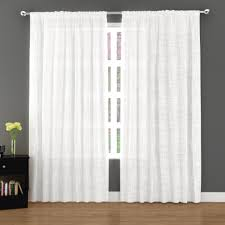 Kmart Curtain Rod Set by Essential Home 2 Pc Window Panel Textured Cotton