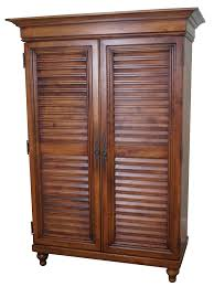 Tommy Bahama Lexington Maple Louvered Door Armoire | Chairish 27 Brilliant Computer Armoire With Doors Yvotubecom Sauder 415003 Harbor View Collection Salt Oak Ebay Benoist Page 10 Adding A Closet To Room Armoire Wardrobe Repurposrefinished Tv For Babys Clothes For My 41 Best Vintage Images On Pinterest Bedroom Louvered Abolishrmcom Wardrobe Small White Louvered Armoire Delmarva Fniture Consignment Mahogany Eertainment Armoires Amazoncom 158036