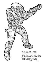 Halo Reach Spartan Army Coloring Pages Halo Reach Spartan Army