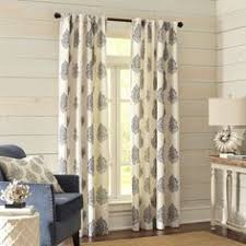 Pier 1 Imports Curtain Rods by Tile Scroll Window Curtain Panel In Blue The New House