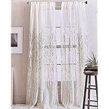 Dkny Curtain Panels Uk by Amazon Com Dkny Urban Meadow Botanical Nature Floral Branches