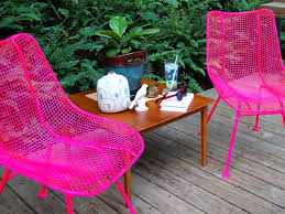 Replacement Vinyl Straps For Patio Chairs by Spray Paint Metal Patio Chairs How To Paint Metal Chairs How Tos