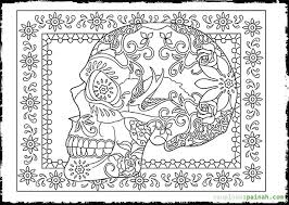 Free Day Of The Dead Coloring Sheets