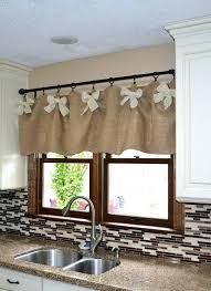 Rustic Window Treatment Ideas Kitchen Best Farmhouse Valances On Shower Curtains