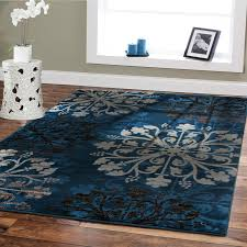 Amazon Premium Large 8x11 Luxury Modern Rugs For Dining Rooms Blue Beige Brown CreamFloral Rug Soft Bedrooms And Room Carpet 8 By 10