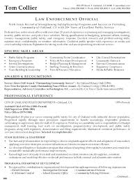 Resume For Law Enforcement Police Officer Samples Objective Writing Chief Sample