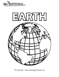 Planet Earth Coloring Page Printable