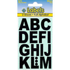 Large White Letter Stickers Amazoncouk Office Products
