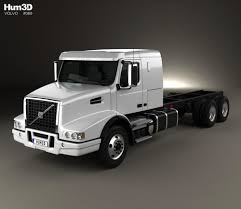 Volvo VHD Axle Back Sleeper Cab Tractor Truck 2000 3D Model - Hum3D