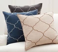 Pottery Barn Throw Pillows by Tile Embroidered Cushion Cover Pottery Barn Au