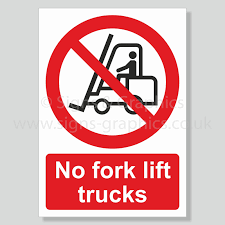 No Fork Lift Trucks Health And Safety Sign | Signs & Graphics Two Blank Highway Signs Overhead Trucks On Road Transport Concept Fork Lift Operating No Pedestrians Signs From Key Uk Sound Horn Calgary Car Door Magnets Truck Van Magnetic Orange County Company Logo For Trucks With A Driving Cab Manufacture Stock Health Safety De Riding On Forklift Is Forbidden Symbol Occupational Caution Sign 200 X 300mm Rigid Signage Bandit Auto Tyres Fork Lift Operating Sticker And