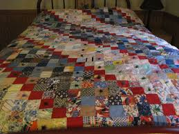 Patchwork Quilt Tacked Squares Handmade Blankets And Quilts Farmhouse Rustic Vintage Bedding
