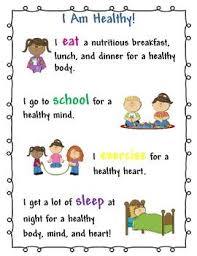 i am healthy kids poster for school nurse and health teacher