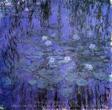 Claude Monet Blue Water Lilies Oil Painting Reproduction
