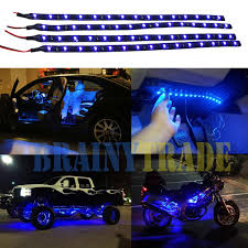 4pcs Car Motors Truck Flexible LED Strip Lights 12V Waterproof 30CM ... Oracle Engine Bay Led Lighting Kit 60 Rear Brake Tailgate Light Strip Bar Truck Pickup For Suv Car Interior Multicolor 8 Steps With Pictures 20 Traxxas Emaxx Deluxe Set Rclighthouse Flow Strip Trunk Light Youtube Led Strips For Trucks Lights Decor How To Install Access Bed Color Chaing Strips With Remote Sale In Barnet Xkglow App Wifi Controlled Strip Undercar Under Body Ledambient Tuning Lights Breathe New Life Into Your Vehicle 60inch X 2 With 48 Redwhite Reverse Stop Turn