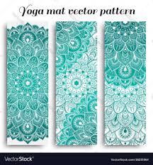 Set Of Yoga Mat Pattern Light Colors Vector Image