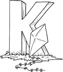 Pictures Alphabet Letter K Coloring For Kids