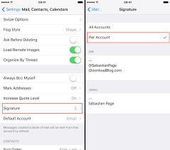 How to set up multiple email signatures on your iPhone or iPad