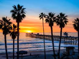 Los Patios San Clemente by San Clemente Pier At Sunset California San Clemente And San